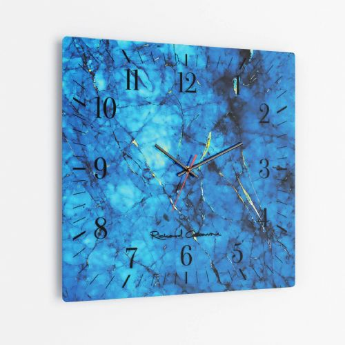 At The Reef - Square Glass Clock